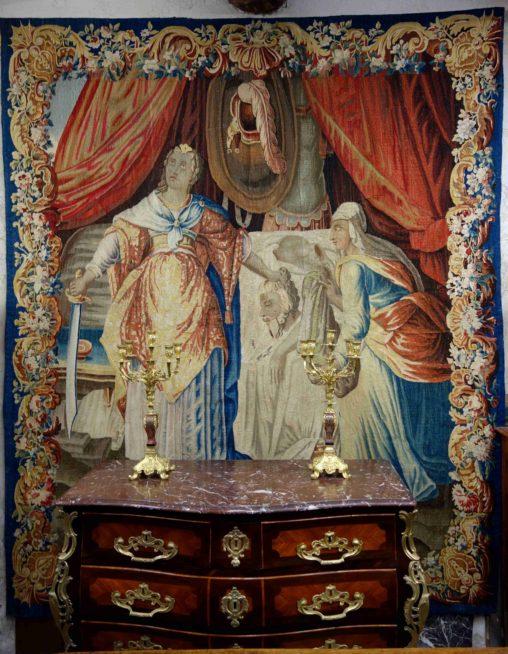 Tapisserie d'Aubusson : la décapitation d'Holopherne