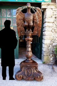 Lutrin à l'aigle en chêne
